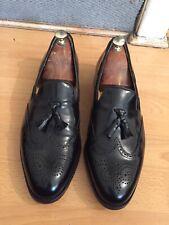 Barker Clive Black Hi Shine Leather Tassel Leofers Uk 11, RRP£210