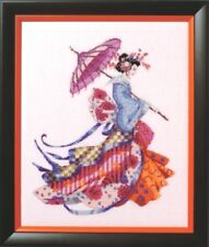 """SALE! COMPLETE X STITCH MATERIALS """"MISS CHERRY BLOSSOM""""  MD153 by Mirabilia"""