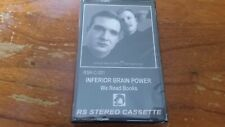 INFERIOR BRAIN POWER we read books Cassette Tape new