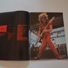 SAMMY HAGAR - Tour programme UK Tour 82