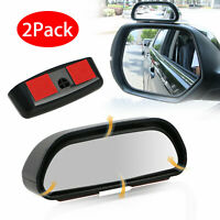 2pcs Universal 360°Car Auto Wide Angle Rear Side Mirror View Blind Spot Snap Way