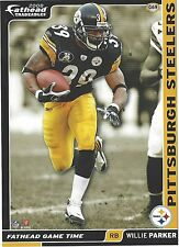 WILLIE PARKER PITTSBURGH STEELERS NCU TARHEELS FATHEAD TRADEABLES 2008 G69