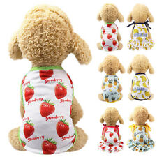 Beach T-Shirt Dress Pet Couples Dog Summer Clothes Puppy Small Dog Lovely