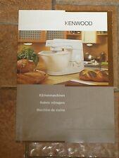 Livre de cuisine KENWOOD Utilisation robot + Recettes Allemand Français Italien