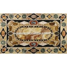Pietradura Marble Breakfast Table Top Antique Inlay Home Furniture Decor H4398