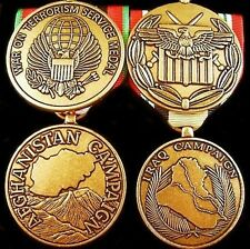 U.S. GLOBAL WAR ON TERRORISM COMPLETE  MEDAL GROUP COMBAT AFGHANISTAN & IRAQ