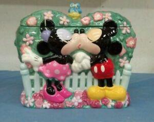 "Disney Mickey and Minnie ""Disney Kiss"" Cookie Jar"