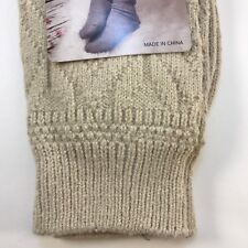 7c4338d2732 Muk Luks- Microfiber Boot Socks Womens OSFM Cream