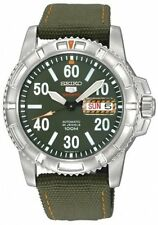 SEIKO 5 SPORTS AUTOMATIC SRP215 SRP215K2 100M ARMY GREEN DIAL GREEN BAND WATCH