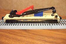 LIONEL TRAINS BOY SCOUTS OF AMERICA DERRICK CRANE CAR #37013 O GAUGE