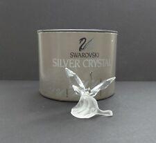 Swarovski Crystal BUTTERFLY on Leaf Figurine #7615 NR 000 003, MIB