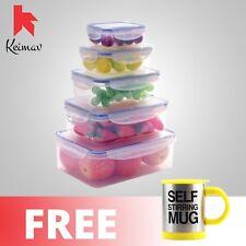 Keimavlock 10-Pc Airtight Food Storage with Self Stirring Mug (Yellow)