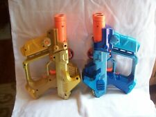 2 2004 Hasbro Tiger Electronics Laser Tag Guns Blue and Gold Tested Works