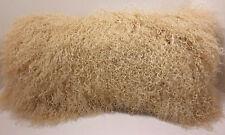 Mongolian lamb fur Pillow Beige New cushion  USA