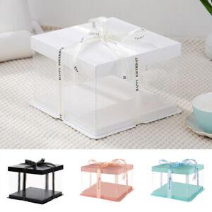 Transparent PVC Valentine's Day Gift Box Packaging Box Rose Flower Cake Box DIY