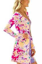 NWT Lilly Pulitzer Magenta Tipping Point Engineered Paradise Dress Sz S $128