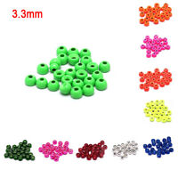25pcs 3.3mm Fly Tying Tungsten Bead Round Nymph Head Ball Fly Tying Material FT