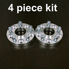 """(4) 1.25"""" HUBCENTRIC 5x4.5 to 5x5 Wheel Adapters - 1/2"""" Studs - Spacers with Lip"""