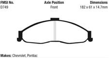 EBC Bluestuff Brake Pad Set for 98-02 Camaro / Firebird/Trans Am (4th Gen)