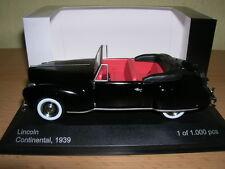 WHITEBOX Lincoln Continental Año fabricación 1939 NEGRO 1:43 Lim. 1000 unidades
