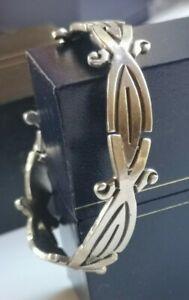 Vintage Signed IJE TAXCO 925 STERLING silver links bracelet 39gr