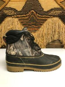 Crater Ridge Mens Steel Shank Brown/Camo  Hunting Hiking Lace Up Boot Size 10
