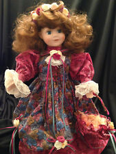 "House of Lloyd Amber Lynn 16"" Musical Animated Porcelain Doll 4 Melodies 1994"