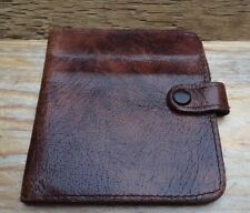 Vintage Brown Leather Wallet/Brown/Fold Up/For £1 Notes/Retro/50's-60's/Unisex