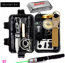 Survival kit set military outdoor travel mini camping tools aid kit emergency