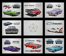 8 ART PRINTS DODGE CHARGER SUPER BEE CORONET 1971 1972 1973 1974 360 340 318 225