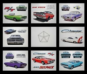 OLD DODGE POSTERS: 1971 1972 1973 1974 CHARGER SUPER BEE CORONET 360 340 318 225