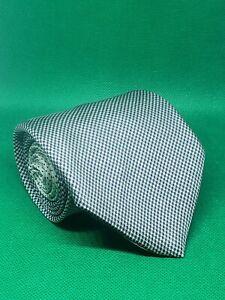 """Tommy Hilfiger silk neck tie houndstooth 58"""" × 3 1/2"""" black white"""
