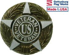 US Veteran Aluminum Grave Marker, Cemetery Memorial Flag Holder, Made In USA