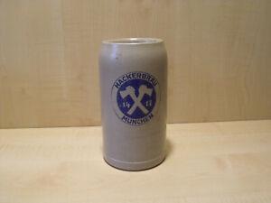 c27) Alter orig. Bierkrug - Brauerei HACKERBRÄU München - 1 L - H. 18,5