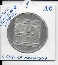 autriche 100 schilling 1976 land de carinthia  argent