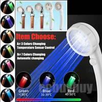 LED Handheld Shower & Temperature Sensor 3 Color Changing /7 Color Self-changing