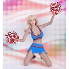 1:6 Sexy Cheerleading Uniform Set for Hot Toys Phicen Female Figure Blue