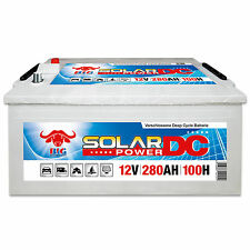 Solarbatterie 12 V 280 Ah (100h) BIG DCS Antrieb Beleuchtung Boot Versorgung