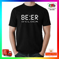 Beer O'Clock Tee Tshirt T-Shirt Funny Mens Lads Drinking Stag Party Funny Quote