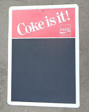 tin litho store chalkboard sign advertising Coca Cola