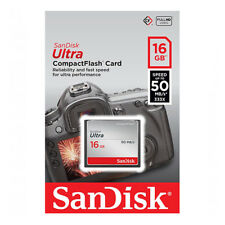kQ CF 16 GB Sandisk Compact Flash ULTRA 16GB 50MB/s SDCFHS-016G Speicherkarte