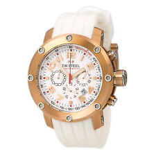 TW Steel Men's Watch Grandeur Tech Chronograph White Silicone Strap TW132