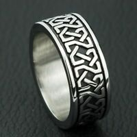 Unisex Ring Bohemian Style Geometric Pattern Stainless Steel Charm Accessories