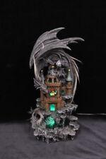 Dragon On Castle With USB Light Statue Ornament 35 cm