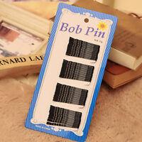 60Pcs BLACK invisible Mini Wave Top Bobby Pins Salon Barrette Hair Clips L1Y