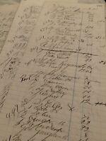 Vintage Ledger Paper Maine 1871 Beautiful calligraphy, repurposing Ephemera.