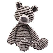 ZAG Teddy Bear Gund Gry/Wht Stripes Ages 1+ 16 inch height (40.5 cm) 2016 SOFT