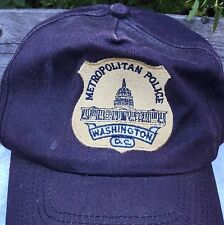 Vintage METROPOLITAN POLICE Washington DC Embroidered Badge VISOR Baseball CAP