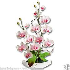 Orchideen-Arrangement Kunstblume Blume Orchidee  Keramik-Schale Neu