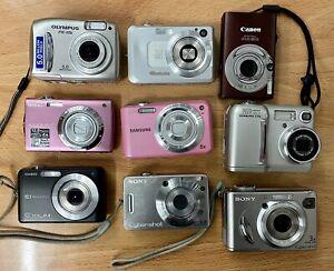Digital Camera Job Lot Bundle To Include Olympus Canon Nikon Casio Sony Samsung